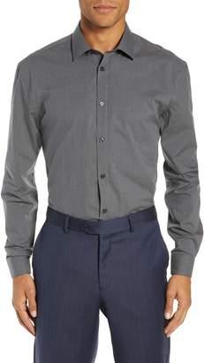 John Varvatos Collection Star USA Slim Fit Stretch Check Dress Shirt