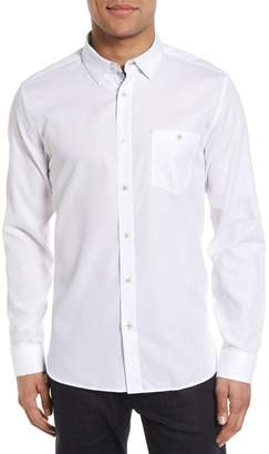 Ted Baker Nordlux Modern Slim Fit Stretch Cotton Sport Shirt