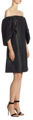 Halston Metallic Knee-Length Dress