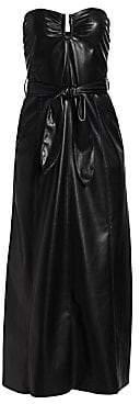 Nanushka Women's Anja Vegan Leather Strapless Dress