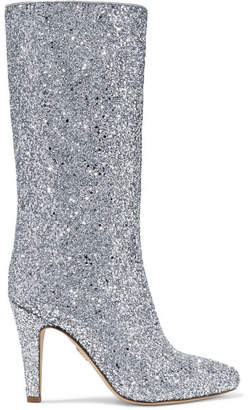 Brother Vellies Elevator Glittered Leather Boots - Silver