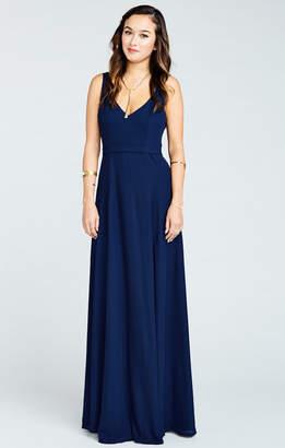 Show Me Your Mumu Jenn Maxi Dress ~ Rich Navy Crisp
