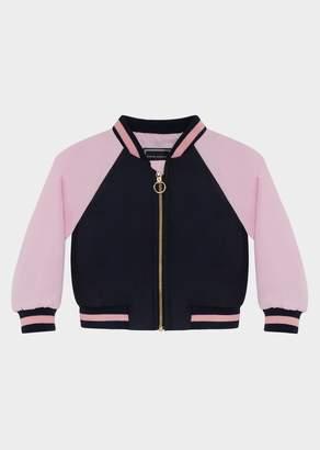 Versace Contrast Color Varsity Jacket