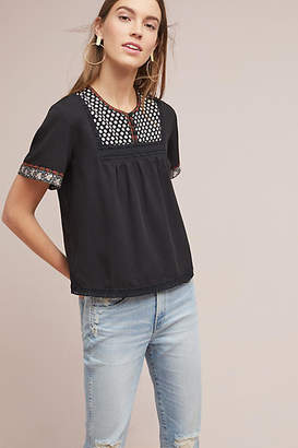 d.RA Embroidered Peasant Tee