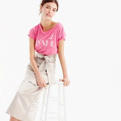 Wrap sash skirt in duchesse satin