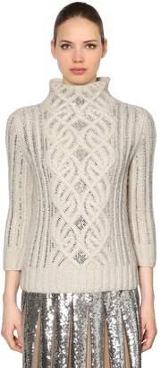 Ermanno Scervino Embellished Wool Blend Sweater