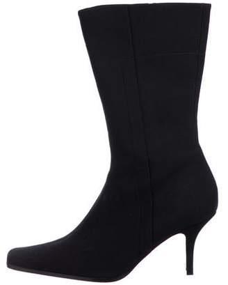 Prada Woven Square-Toe Boots