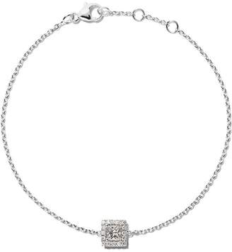 De Beers 18kt white gold My First Aura princess cut diamond bracelet