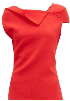 Roland Mouret Raywell Wool Crepe Sleeveless Top - Womens - Red