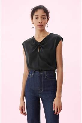 Rebecca Taylor Silk Charmeuse Knot Top