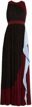 Roksanda Milda sleeveless colour-block plissé gown