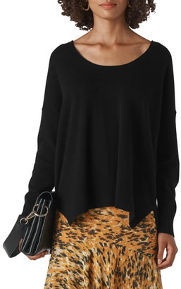 Whistles Scoop Neck Cashmere Sweater