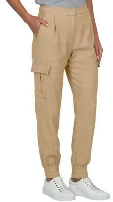 Eleventy High-Rise Linen Cargo Pants