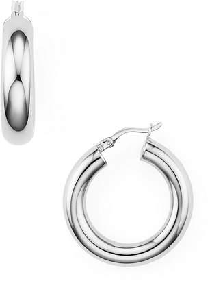 Argentovivo Tube Hoop Earrings