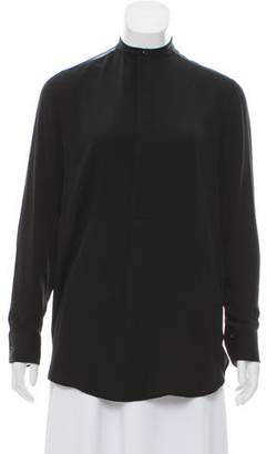 Ralph Lauren Black Label Silk Long Sleeve Blouse