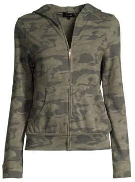 Monrow Women's Camo Fleece Zip-Up Hoodie - Hunter - Size XS