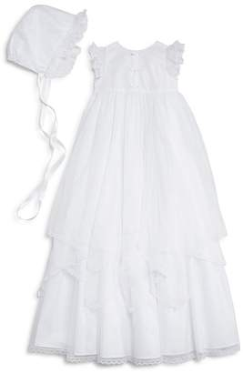 Pippa & Julie Girls' Christening Gown & Bonnet Set - Baby