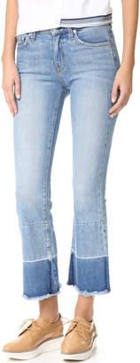 Derek Lam 10 Crosby Jane Mid Rise Flip Flop Flare Jeans $265 thestylecure.com