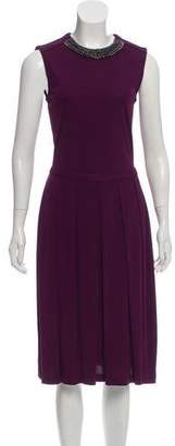 Tory Burch Embellished Midi A-Line Dress