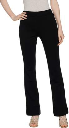 Lisa Rinna Collection Regular Ponte Knit Flare Pants