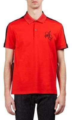 Alexander McQueen Colorblocked Cotton Pique Polo Shirt