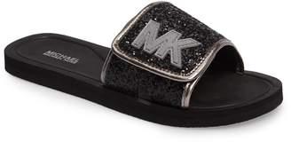 MICHAEL Michael Kors Eli Glow Glitter Slide Sandal