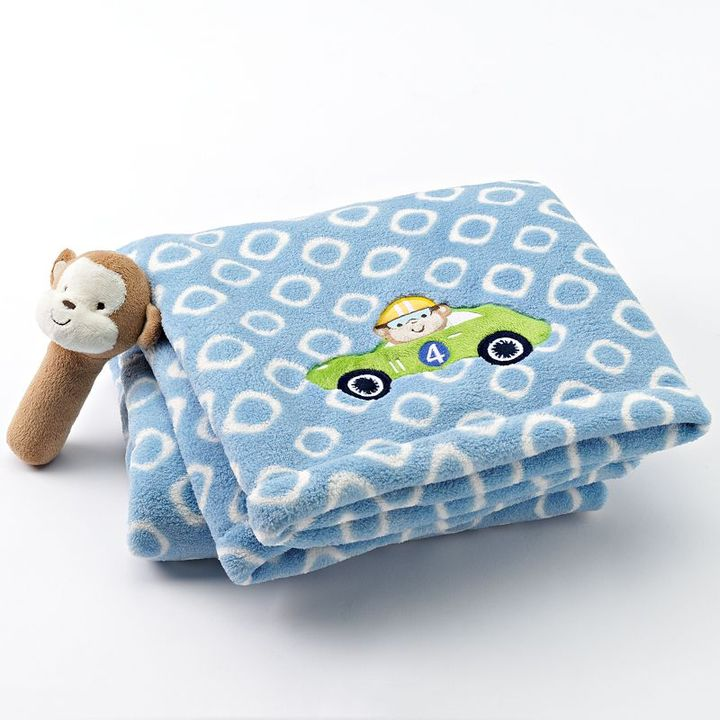 Carter's car plush blanket and rattle set