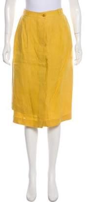 Gucci Vintage Linen Skirt