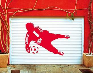 Wall Decal No.UL452 Goal Keeper Parade I, Colour:Gold;Dimensions:50cm x 68cm