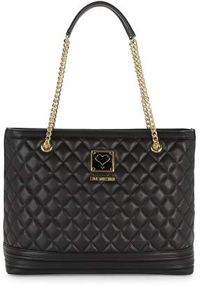Love Moschino Women's Quilted Chain Strap Shoulder Bag
