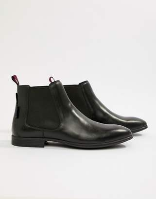 Ben Sherman Leather Chelsea Boot in Black