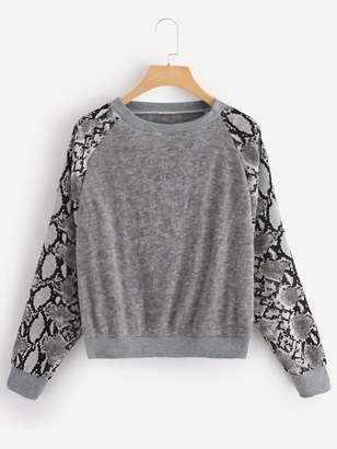 Shein Snake Skin Print Sweatshirt