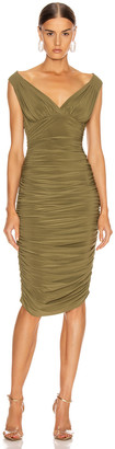 Norma Kamali Tara Dress in Dark Khaki | FWRD
