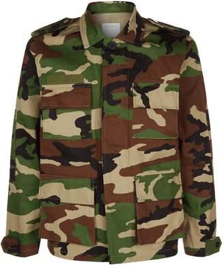 Sandro Camouflage Denim Jacket