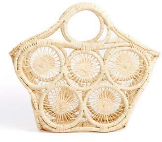 Mar y Sol Fortaleza Open Weave Raffia Tote Bag