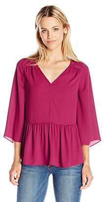 Paris Sunday Women's Bell Sleeve V Neck Top