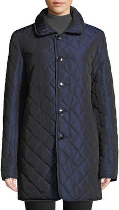 Sofia Cashmere Reversible Diamond-Quilted Rain Coat