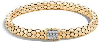 John Hardy 18K Yellow Gold Dot Small Chain Bracelet with Diamonds