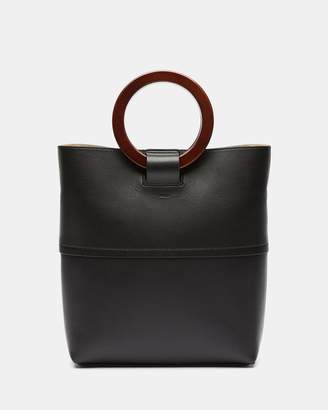 Theory Leather Mini Hoop Tote