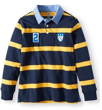 Wonder Nation Striped Rugby Polos (Little Boys & Big Boys)