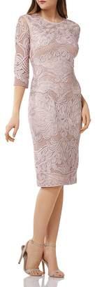 JS Collections Soutache Trimmed Dress