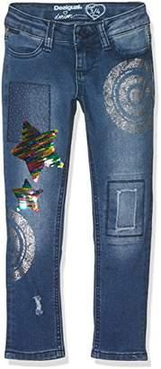 Desigual Girl's Denim_Cross Jeans,(Manufacturer Size: 11/12)