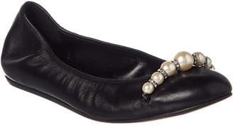Lanvin Pearls Leather Ballet Flat