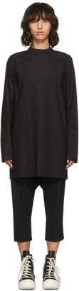 Rick Owens Black Moody Tunic Turtleneck