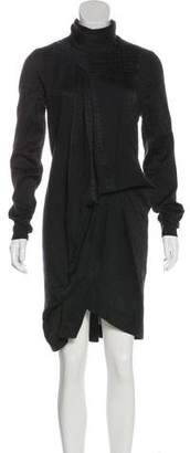 Preen by Thornton Bregazzi Mock Neck Long Sleeve Dress