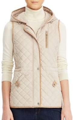 Lauren Ralph Lauren Quilted Hooded Vest