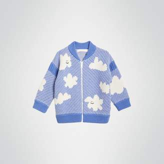 Burberry Cloud Jacquard Merino Wool Cardigan