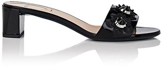 "Fendi Women's ""Flowerland"" Patent Leather Mules $700 thestylecure.com"