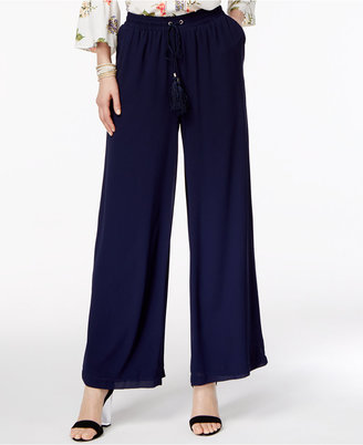 Ny Collection Drawstring-Waist Palazzo Pants $50 thestylecure.com