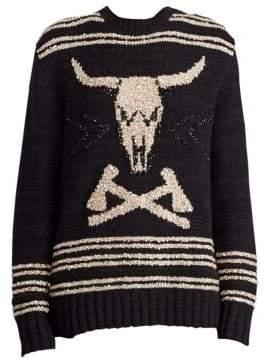 Ralph Lauren 50th Anniversary Steer Head Skull Pullover Sweater